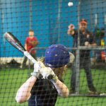 Batting Practice in Drop Cage